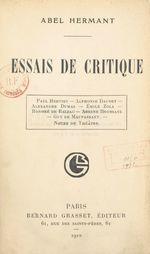 Essais de critique  - Abel Hermant