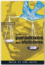 Vente EBooks : Les Paradoxes des stoïciens  - CICERON