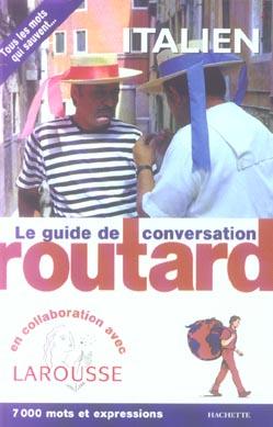 Le guide de conversation Routard ; le guide de conversation ; italien