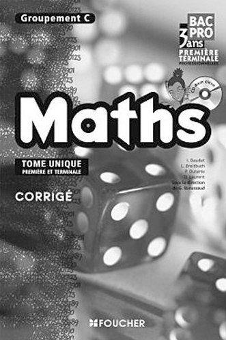 mathematiques groupement c 1re tle bac pro corrige