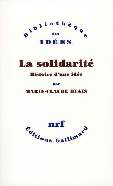 La solidarité, histoire d'une idée
