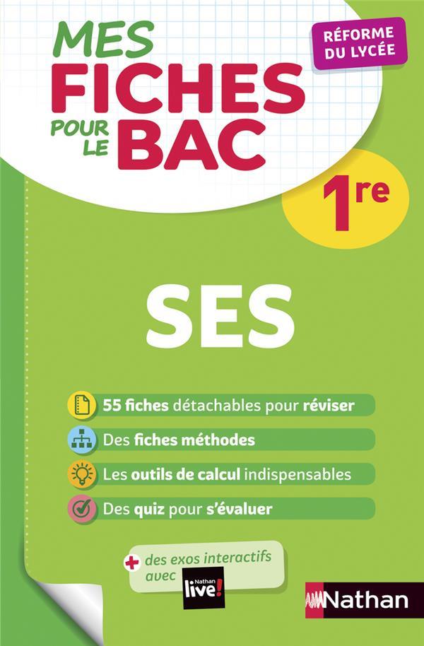 MES FICHES ABC DU BAC t.24 ; SES ; 1re (édition 2019)