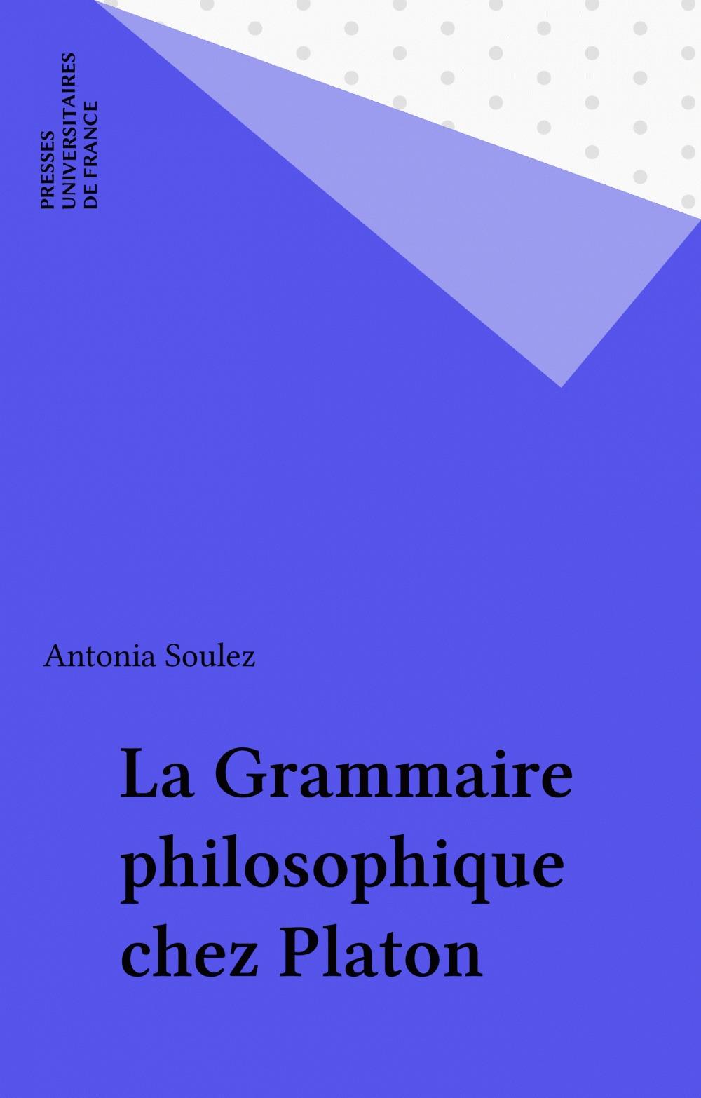La grammaire philosophique chez platon