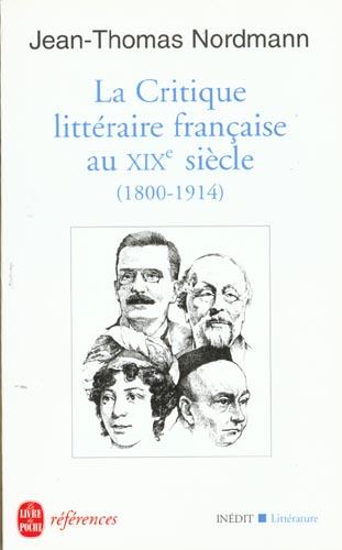 La Critique Litteraire Francaise Du Xixe