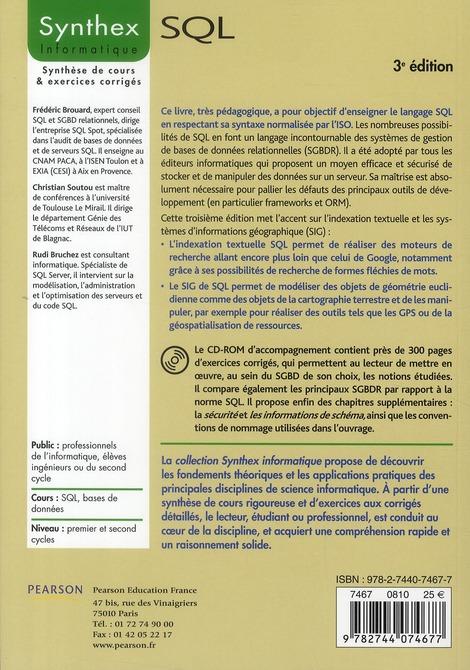 SYNTHEX ; SQL (3e édition)