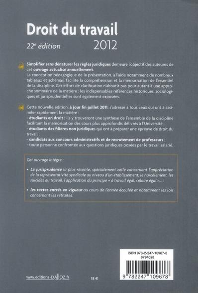 Droit du travail (édition 2012)