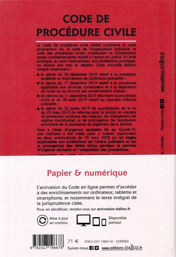 Code de procédure civile, annoté (édition 2021)