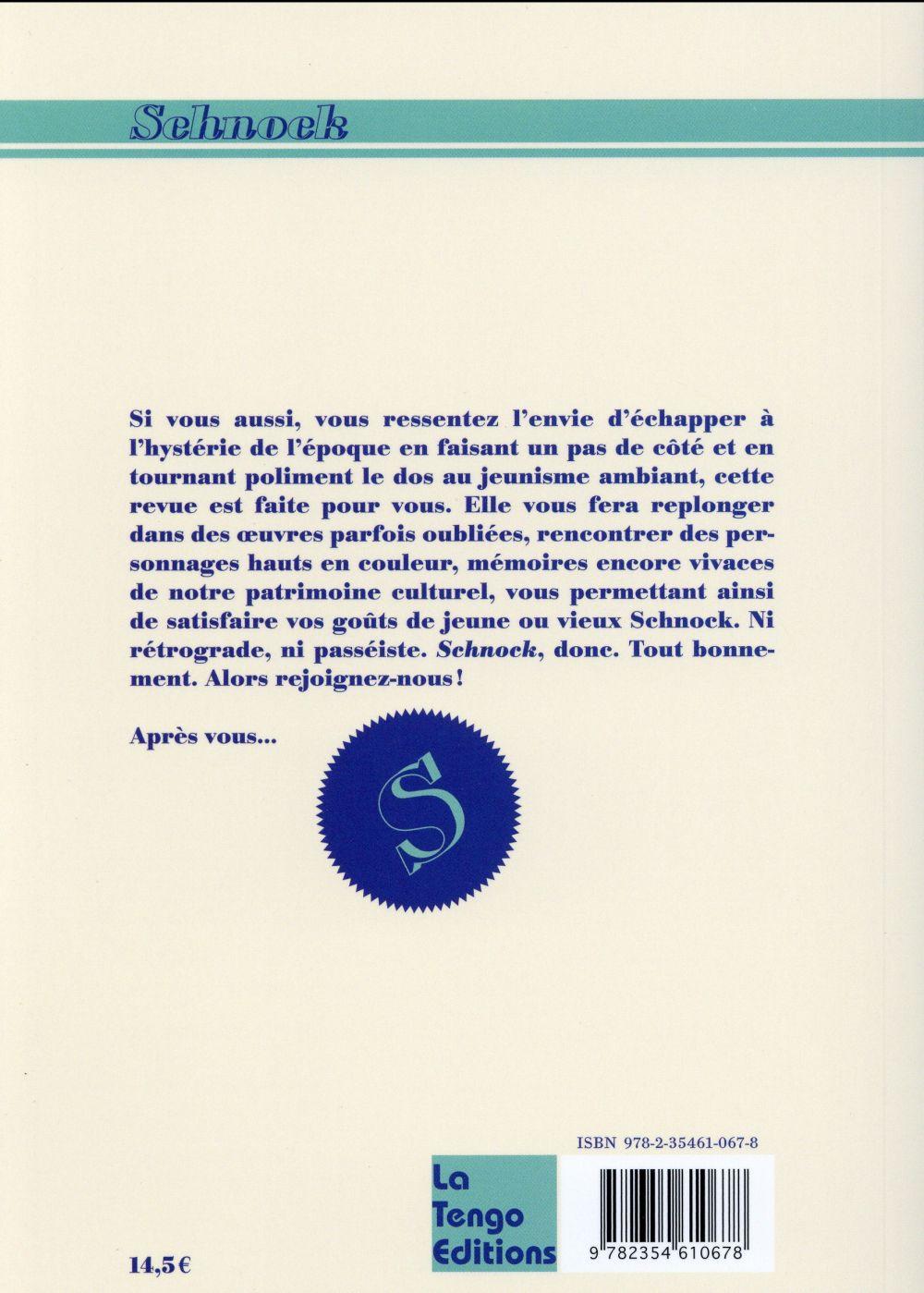 REVUE SCHNOCK n.13 ; Jean-Paul Belmondo