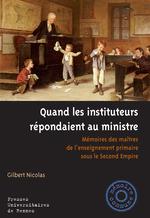 Vente Livre Numérique : Quand les instituteurs répondaient au ministre  - Gilbert Nicolas