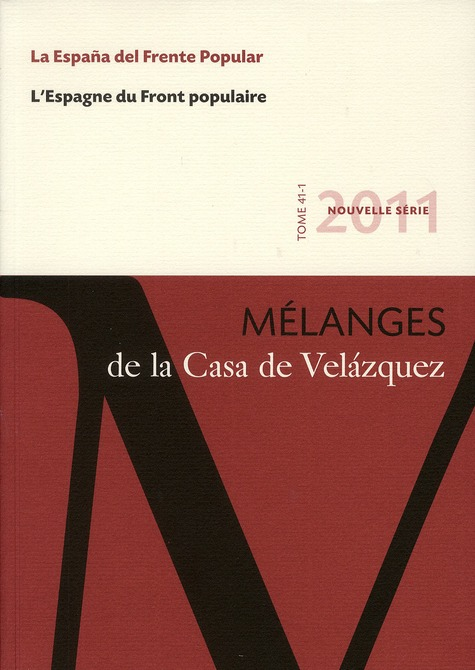 Revue mélanges ; Espagne du front populaire
