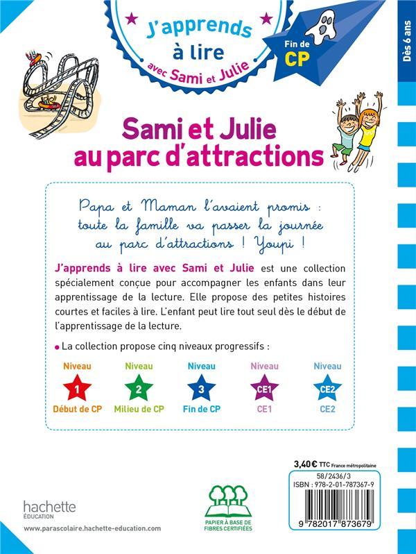 J'apprends à lire avec Sami et Julie ; Sami et Julie au parc d'attractions