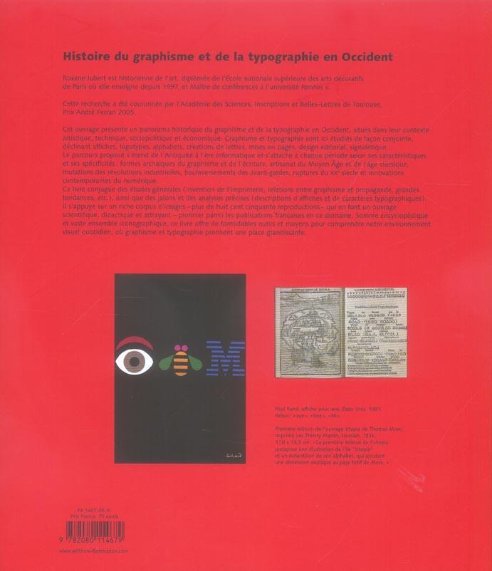 Graphisme, typographie, histoire