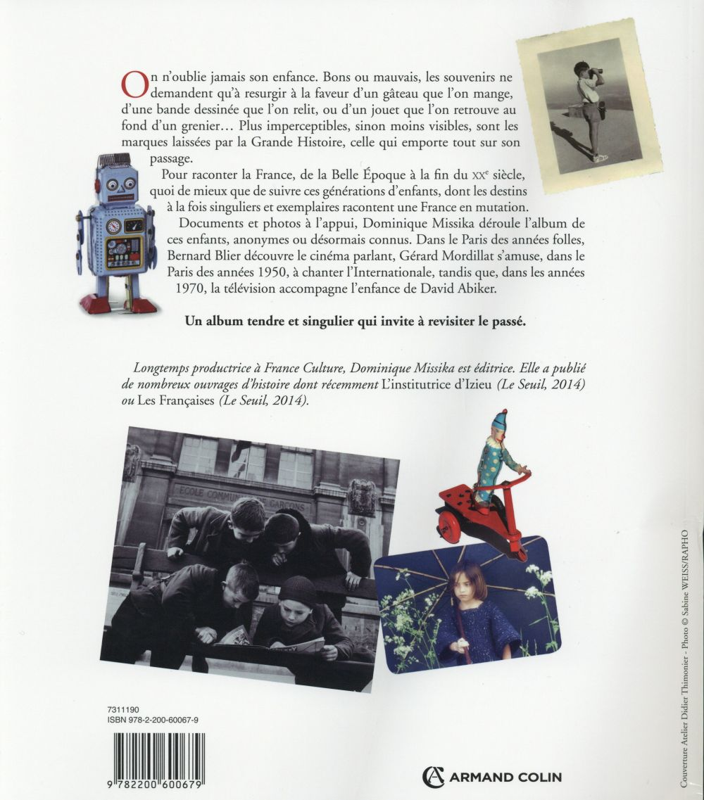 Histoires d'enfances ; la traversée d'un siècle