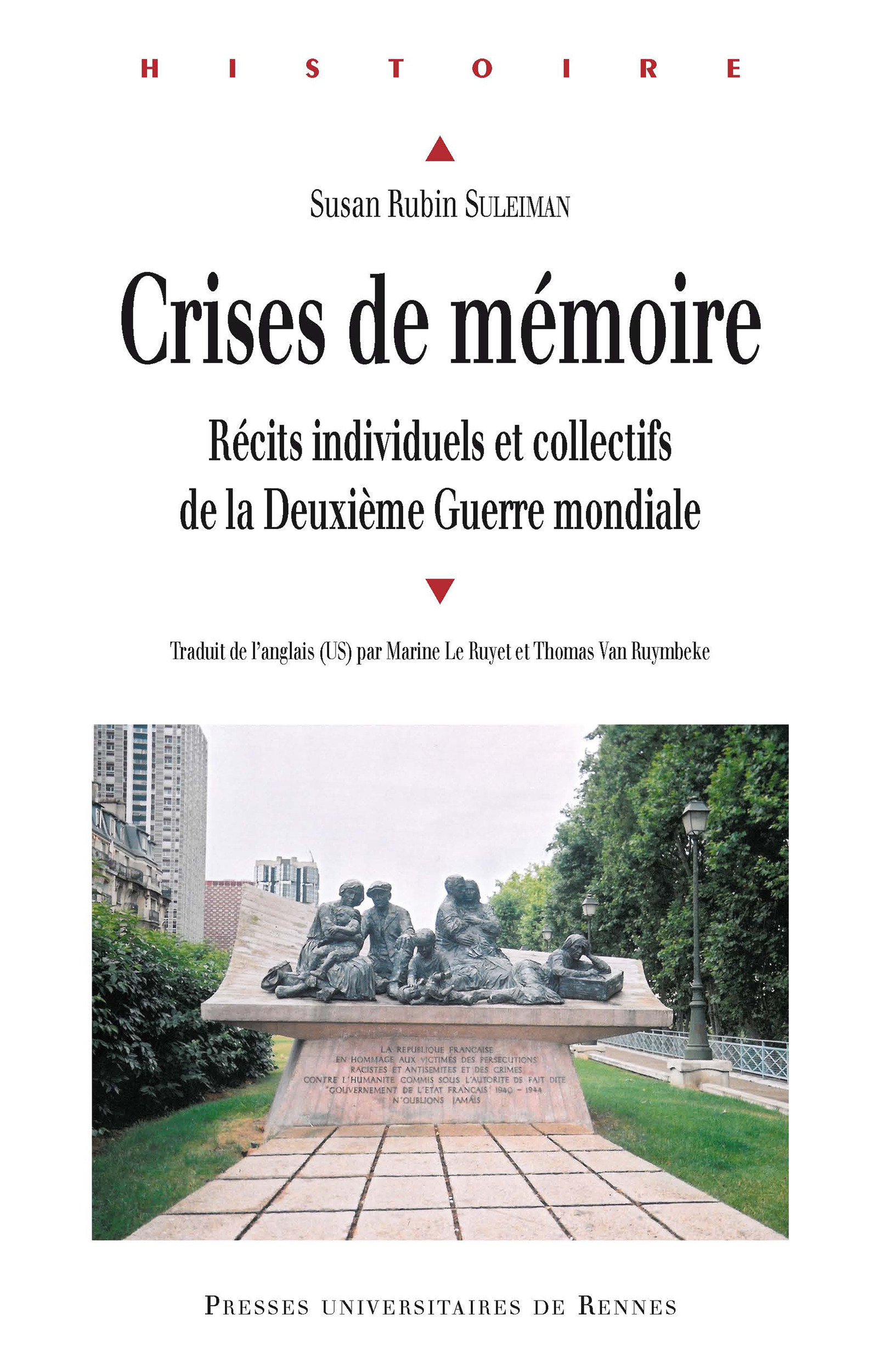 Crises de mémoire  - Susan Rubin Suleiman