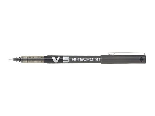 Roller encre liquide - PILOT® - Hi-Tecpoint V5 - Noir - Pointe fine