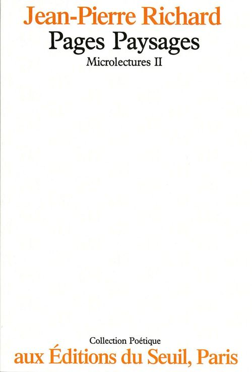 REVUE POETIQUE ; microlectures t.2