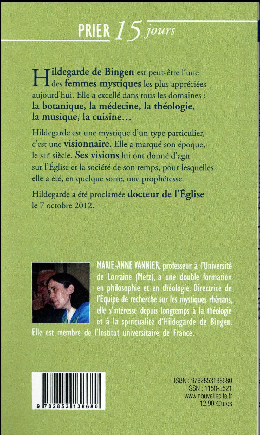 Prier 15 jours avec... T.160 ; Hildegarde de Bingen
