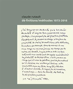 dé-finitions/méthodes ; 1973-2016