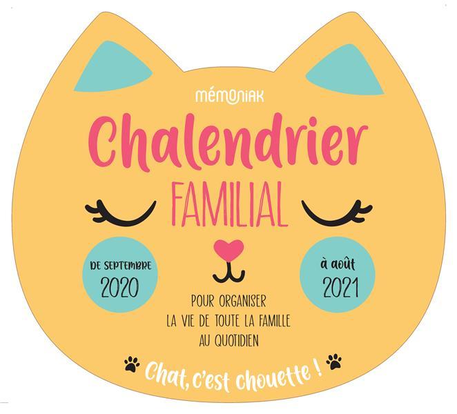 CHALENDRIER FAMILIAL MEMONIAK 2020-2021 EDITIONS 365