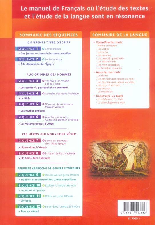 Fleurs D Encre Francais 6eme Livre De L Eleve Carrier Bertagna Hachette Education Grand Format Librairie Gallimard Paris