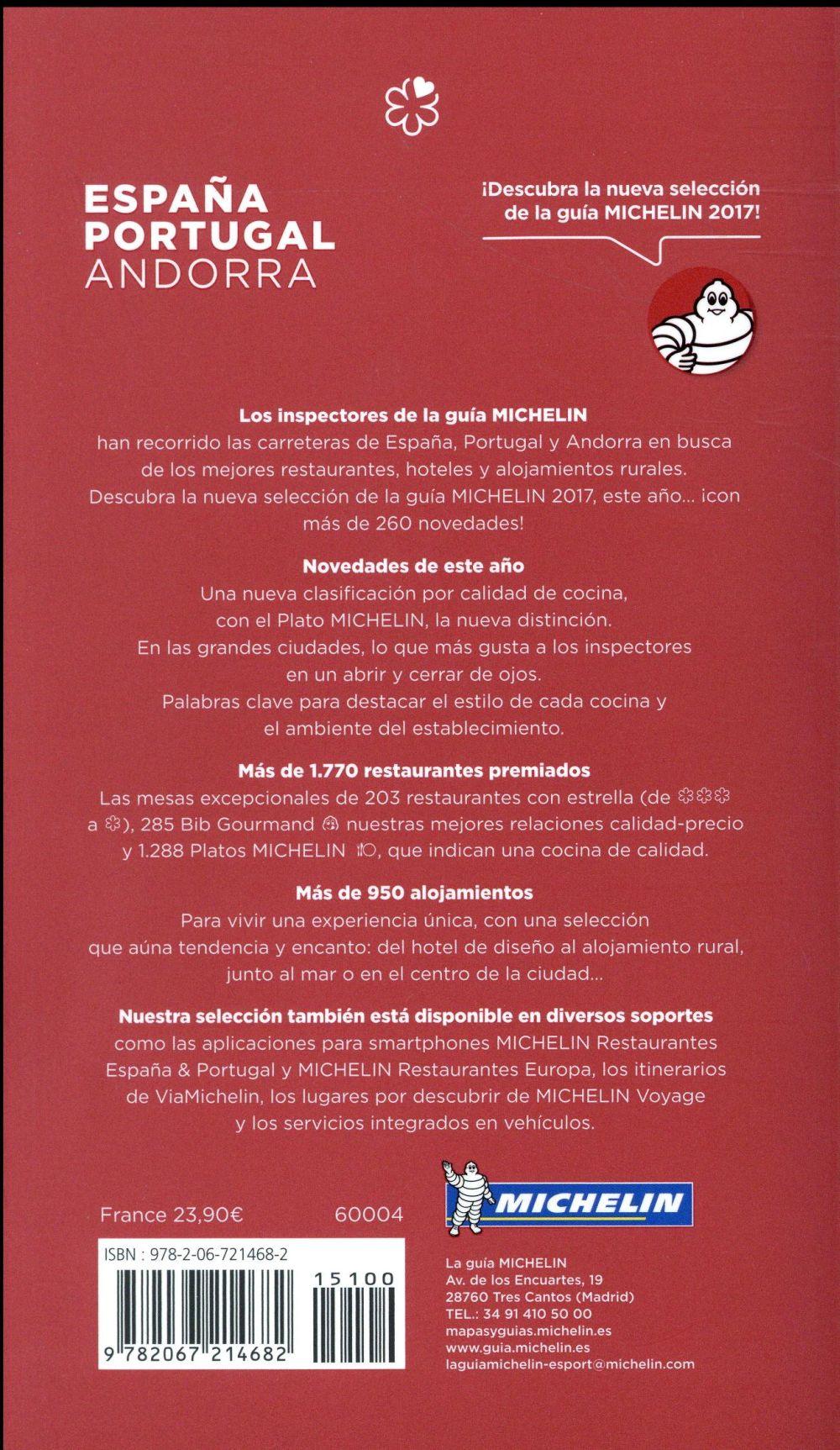 Guide rouge ; la guia Michelin ; España, Portugal (édition 2017)