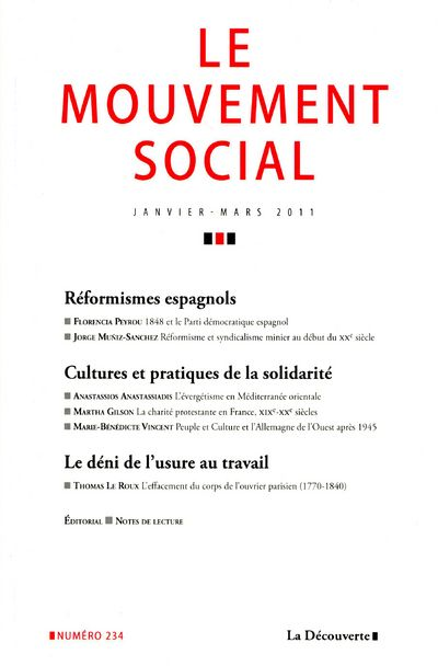 Revue le mouvement social t.234; reformismes espagnols
