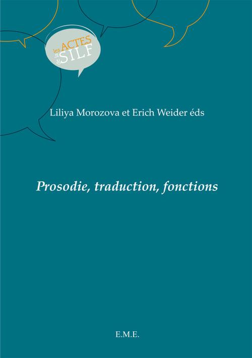 Prosodie, traduction, fonctions
