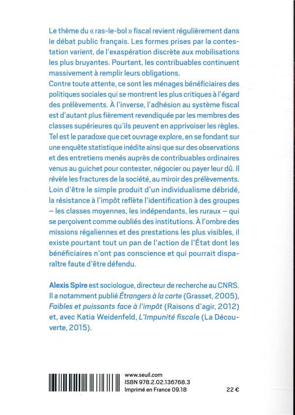 Résistances à l'impôt, attachement à l'Etat ; enquête sur les contribuables français