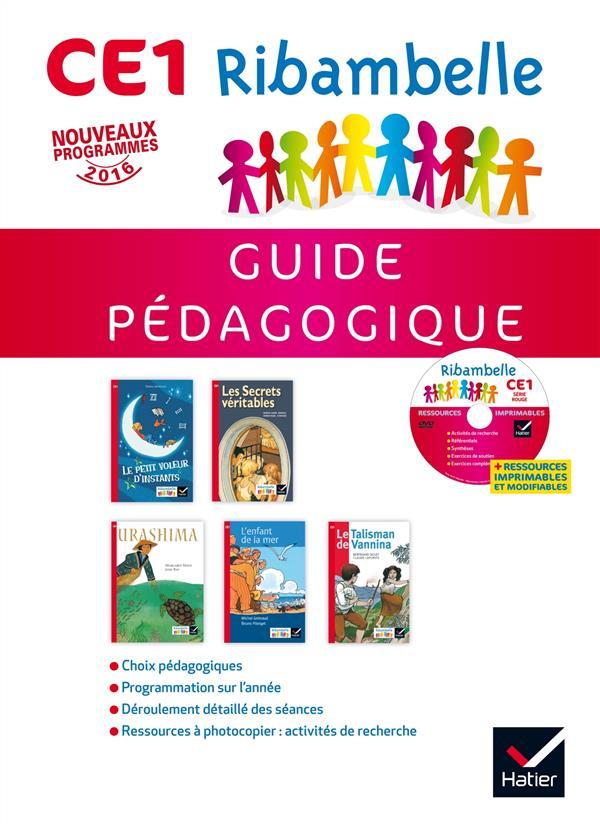 Ribambelle ; CE1 ; série rouge ; guide pédagogique + cd rom (édition 2016)