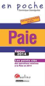 Vente Livre Numérique : Paie- Édition 2014  - Dominique Grandguillot