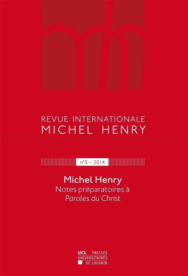 Revue michel henry 5-2014