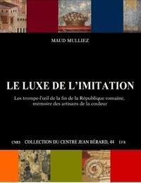 Le luxe de l'imitation. les trompe-l'oeil de la fin de la republique romaine, memoire des artisans d
