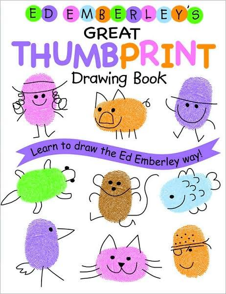 Ed emberley drawing book  great thumbprint /anglais