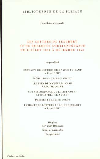 Correspondance t.2 ; juillet 1851-décembre 1858