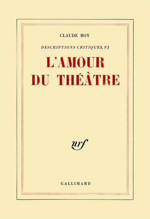 L'amour du theatre