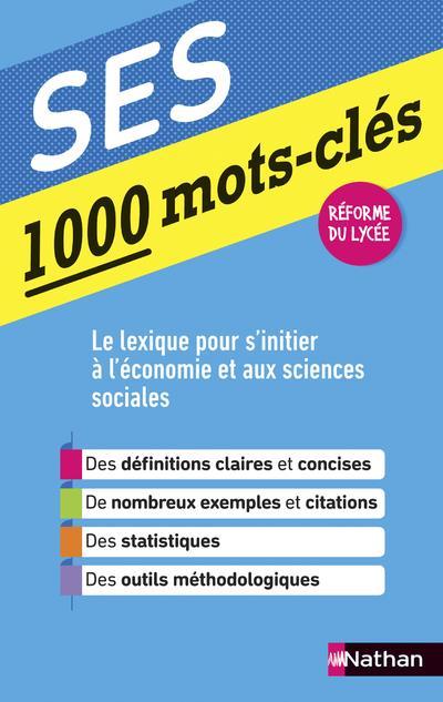 1000 mots-clés ; SES (édition 2019)