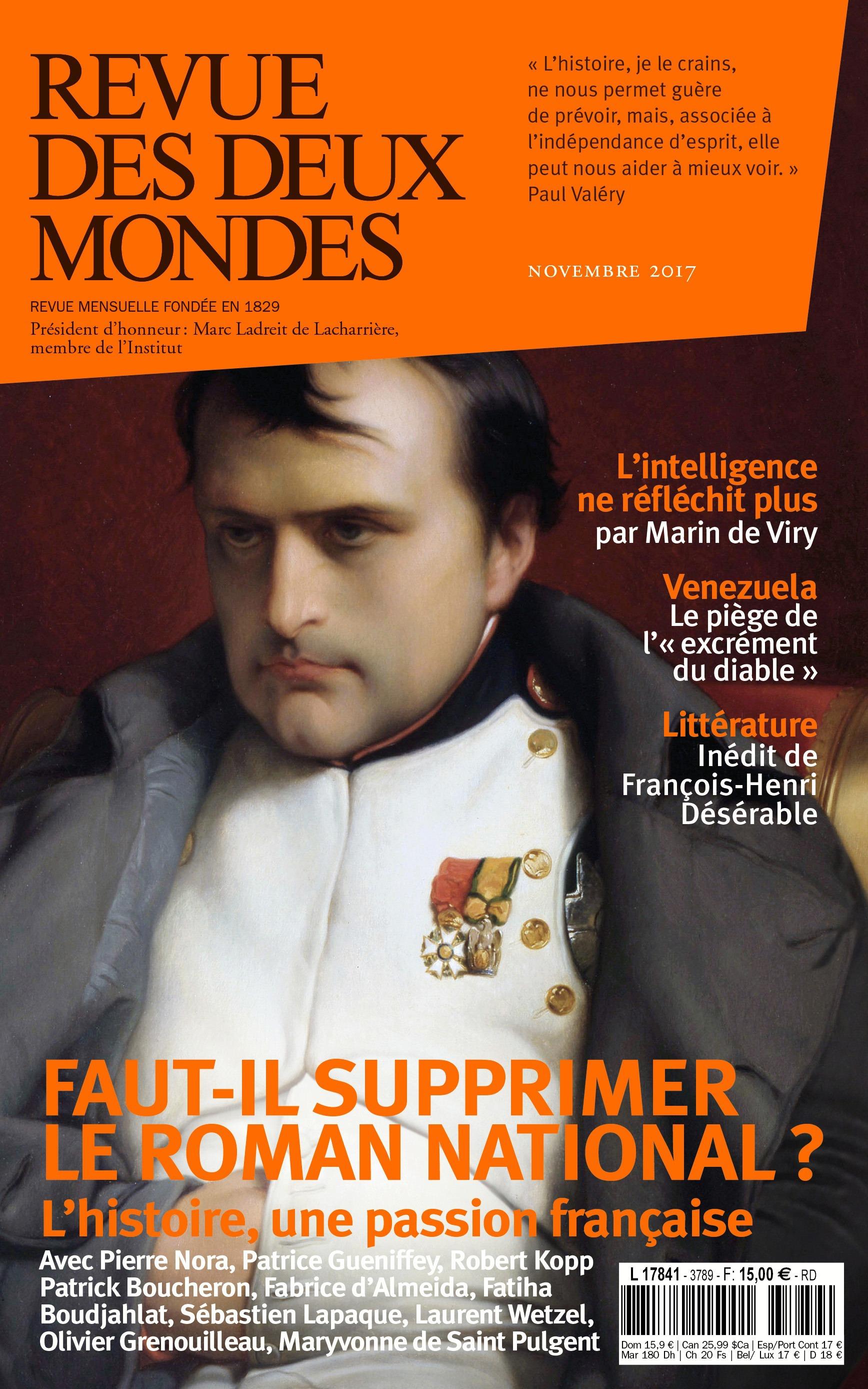 Revue des Deux Mondes novembre 2017
