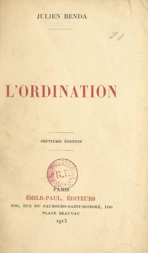 L'ordination