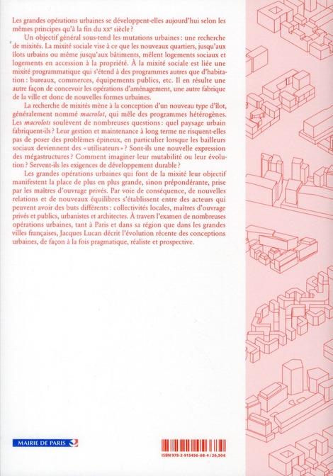 Ou va la ville aujourd'hui? formes urbaines et mixites