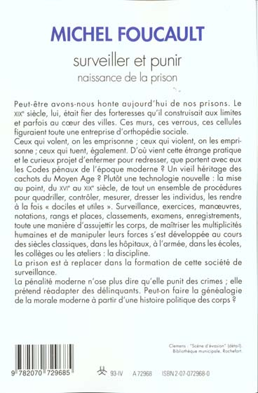 Surveiller et punir ; naissance de la prison