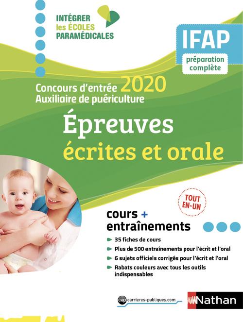 Concours entrée auxiliaire puériculture ; épreuves écrites et orale (édition 2020)