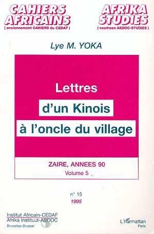 Lettres d'un kinois a l'oncle du village