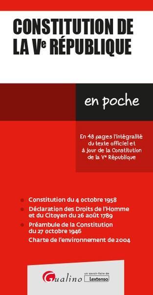 Constitution de la Ve République (12e édition)