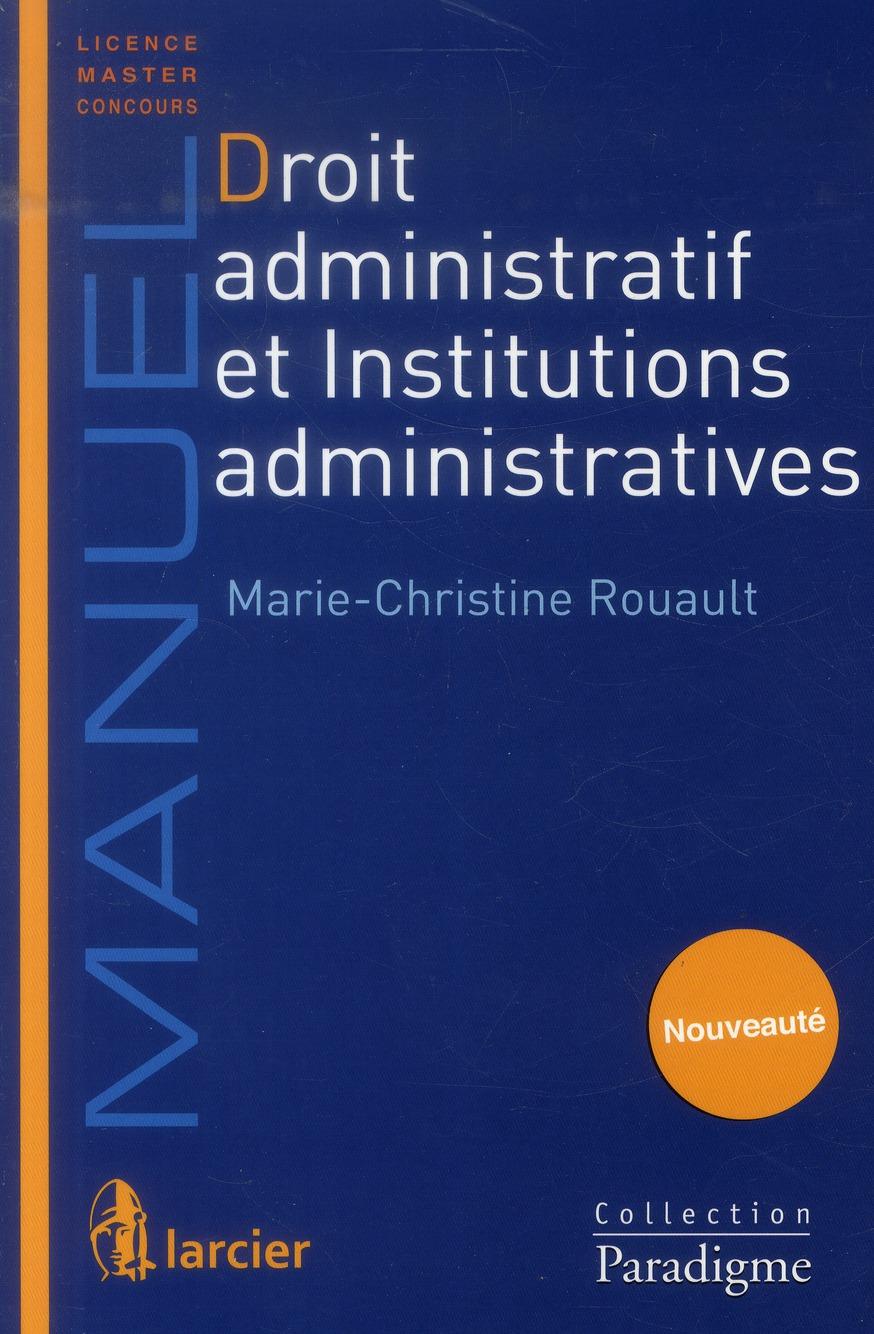 droit administratif et institutions administratives