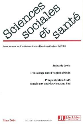 Revue sciences sociales et sante n.32