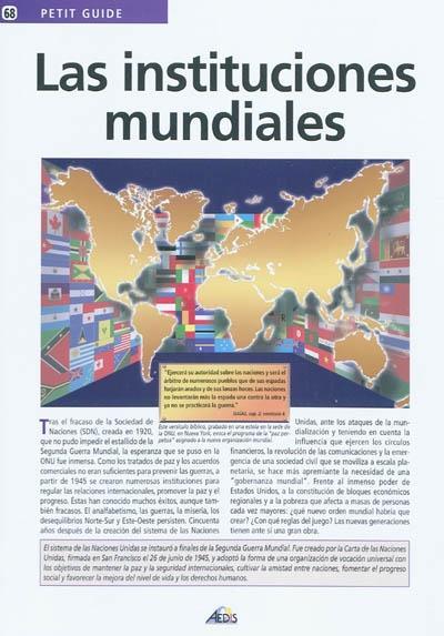 Las instituciones mundiales