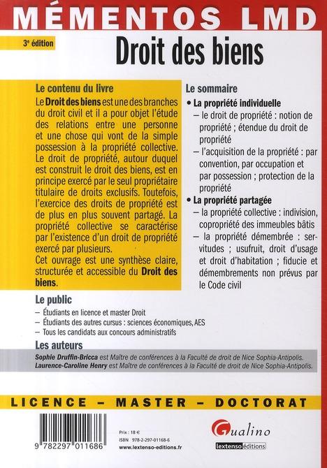 Droit des biens (3e édition)