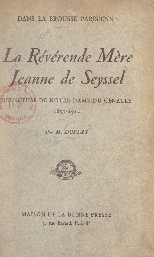 La révérende mère Jeanne de Seyssel