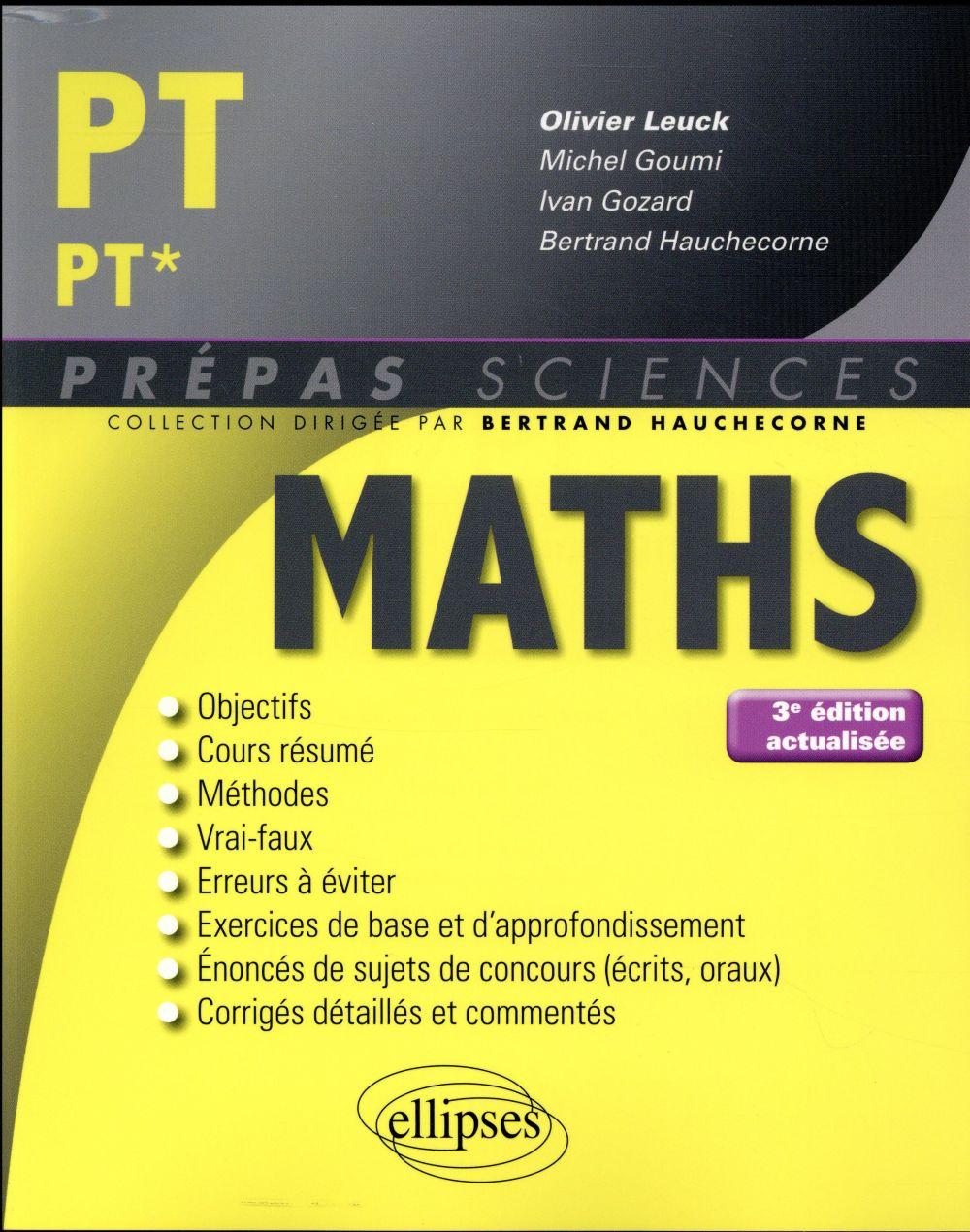 Mathématiques PT/PT* (3e édition)