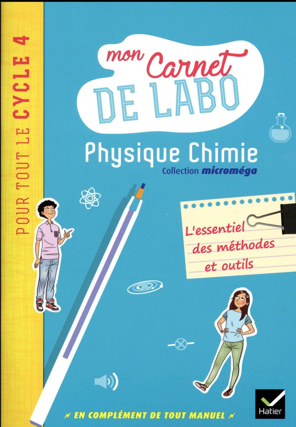 MICROMEGA ; physique-chimie ; cycle 4 ; mon carnet de labo (édition 2017)